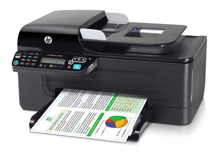 hp printer with paper coming out