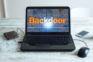 Backdoor weakens security
