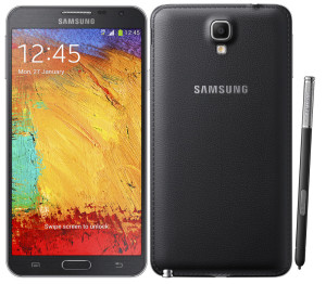 Front and back of samsung galaxy note 3 phone