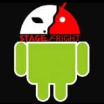android green robot icon with stagefright written on it