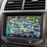 map displayed on dashboard GPS unit