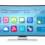 Curved TV with smart apps on screen