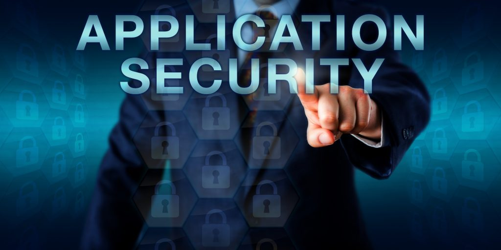Executive user pushing APPLICATION SECURITY onscreen.