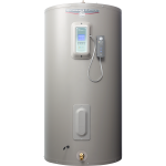 gray water heater - large cylinder with electronic panel on front top