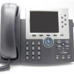 IP Phone on white isolated background (View from front)