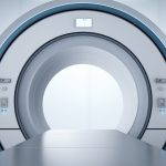 3d rendering mri scan machine or magnetic resonance imaging scan device